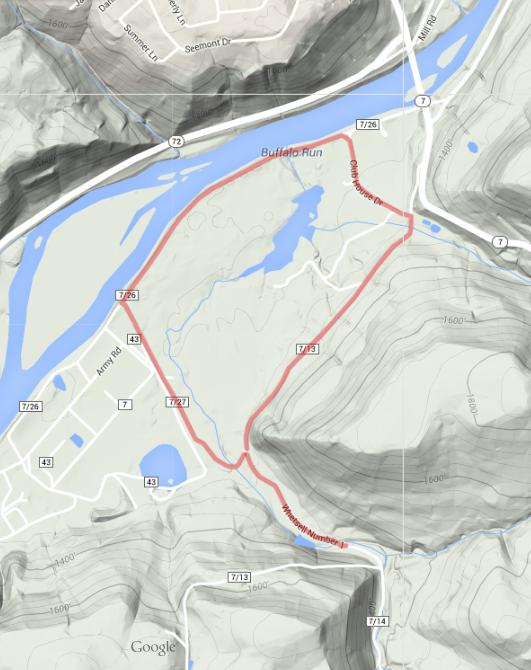 5K Race Map